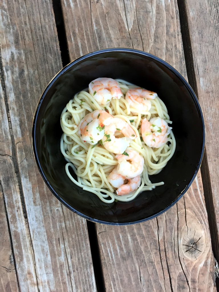 garlic-shrimp-pasta